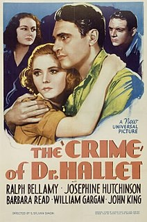 <i>The Crime of Doctor Hallet</i> 1938 film by S. Sylvan Simon
