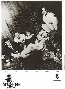 The Sugarcubes in a promotional band photo