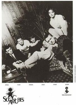 The Sugarcubes - The Sugarcubes in a promotional band photo