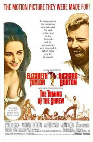 The Taming of the Shrew (1967 film) - Original film poster