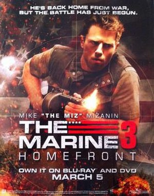 The Marine 3: Homefront - Movie poster featuring Mike Mizanin