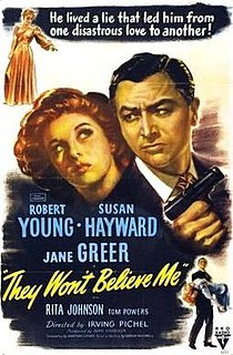 <i>They Wont Believe Me</i> 1947 film by Irving Pichel