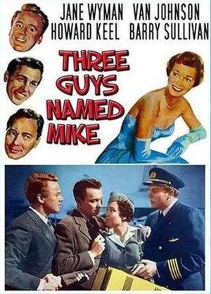 Three Guys Named Mike - Theatrical poster