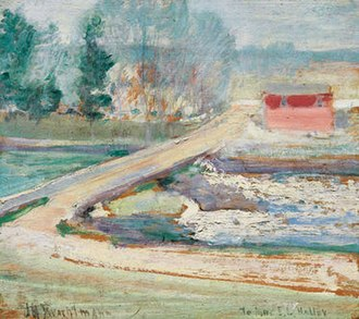Cos Cob, Connecticut - View from the Holley House, ca. 1901 by John Henry Twachtman (1853-1902), private collection