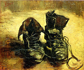 The Origin of the Work of Art - Image: Van Gogh Shoes 1885