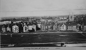 Mission Hill, Boston - View from top of Parker Hill, 1910