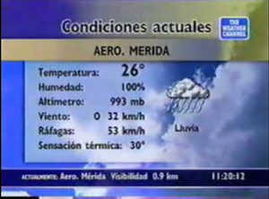 Weather Star XL - The Weather Star XL on TWC Latin America.