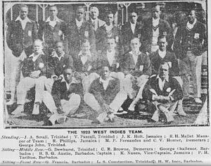 West Indian cricket team in England in 1923 - 1923 West Indies Team