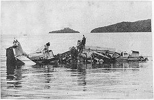 1976 in Malaysia - Wreckage of the GAF Nomad aircraft carrying Tun Fuad Stephens and 10 people on 6 June 1976 at Kota Kinabalu, Malaysia.