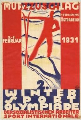 1931 Workers' Winter Olympiad - Image: 1931 Workers' Winter Olympiad poster