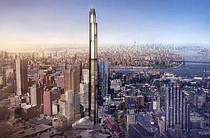 9 DeKalb Avenue - A rendering of the under construction skyscraper