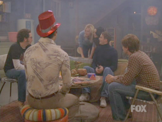That '70s Show - The circle illustrated the teens' marijuana use, usually in Eric's basement. The picture is of the final scene of the series.