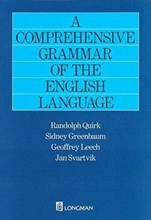 <i>A Comprehensive Grammar of the English Language</i> book by Randolph Quirk