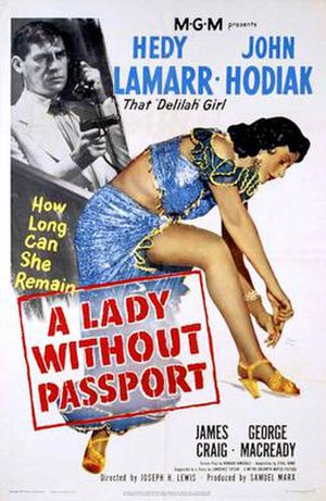 A Lady Without Passport - Theatrical release poster