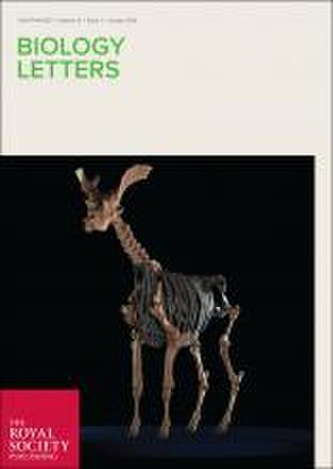 Biology Letters - Image: Biology Letters cover January 2016