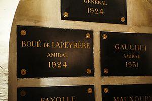 Augustin Boué de Lapeyrère - 8th arcade of the crypt: Caveau des Gouverneurs,under the Eglise de Saint-Louis des Invalides