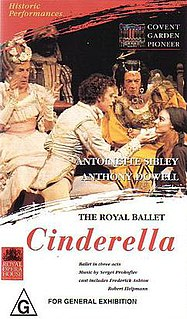 "<i>Cinderella</i> (Ashton) comic version of ballet inspired the Cinderella ballet using Sergei Prokofievs ""Cinderella"" music, and re-choreographed by choreographer Frederick Ashton"