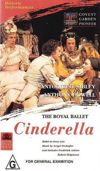 Cinderella (Ashton) - Cinderella ballet – features  Antoinette Sibley as Cinderella and Anthony Dowell as The Prince, with Frederick Ashton and Robert Helpmann as the two Ugly Stepsisters (VHS cover).