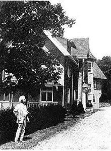 Samuel Clemens At The Voss Cottage Tuxedo Park New York Summer 1908