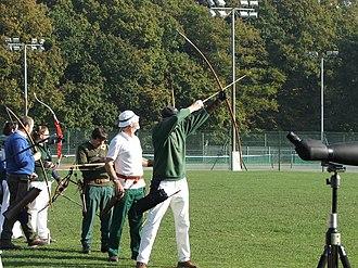 Clout archery - Image: Clout Archery Shooting