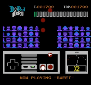 D-Pad Hero - In D-Pad Hero player use buttons on the controller to hit falling notes in sync with music.