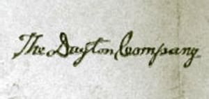 Dayton's - The Dayton Company logo as of 1918.