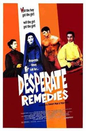 Desperate Remedies (film) - Image: Desperate Remedies Film Poster