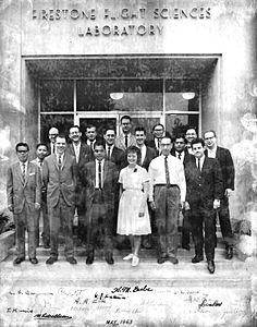 Dr. Ahmed at Caltech 1963 (Front row third from left)