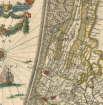 Duin- en Bollenstreek - 1645 map of the area (before it was known as the Duin- en Bollenstreek)