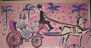 Finca Los Alamos - Mural in Finca Los Alamos painted by Hector Basaldua