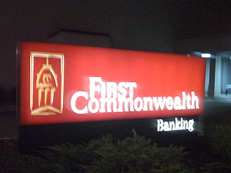 First Commonwealth Bank - First Commonwealth branch in downtown New Castle, Pennsylvania.