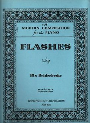 Flashes (song) - 1931 sheet music cover, Robbins Music, New York.