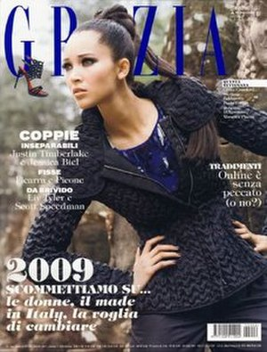 Grazia - Image: Grazia (magazine) January 2009 cover