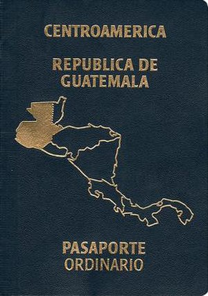 Guatemalan passport - Guatemalan passport front cover
