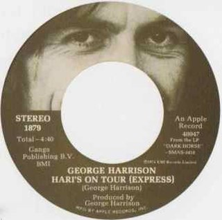 Haris on Tour (Express) 1974 song by George Harrison