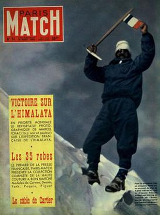 1950 French Annapurna expedition - Paris Match dated 19 August 1950
