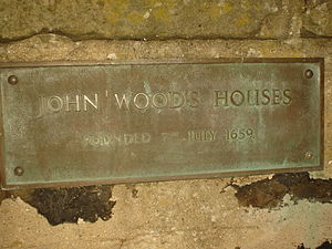 Upper Largo - Plaque at John Wood's Hospital