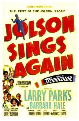 Jolson Sings Again - Image: Jolson Sings Again 1949 Poster