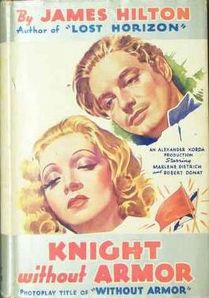 Knight Without Armour - U.S. film poster as reproduced on bookcover