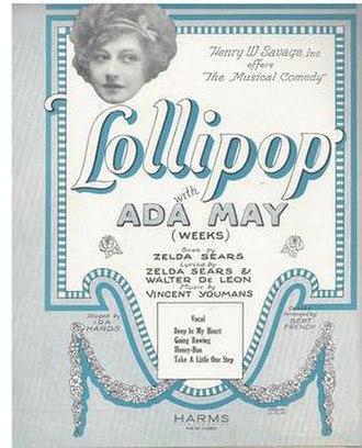 Lollipop (musical) - Sheet Music Cover
