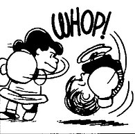 Linus gets knocked out, losing his boxing match against Lucy.