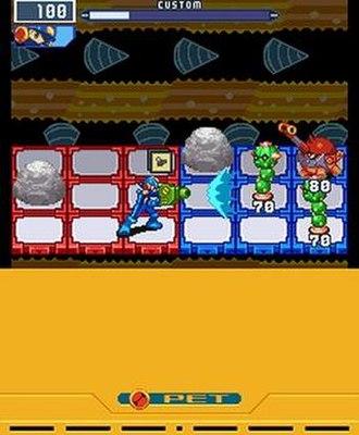Mega Man Battle Network 5 - MegaMan battles viruses in Double Team DS.