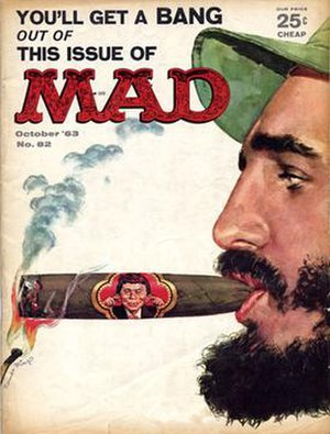 Cover of October, 1963 issue (#82) of Mad Maga...