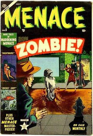Zombie (comics) - Image: Menace 5 Atlas Comics