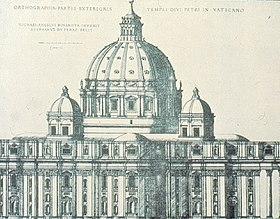 Эта гравюра показывает Чансла конец здания, сколько это было построено, за исключением того, что купол в этой картине полностью полукруглый, а не яйцевидные