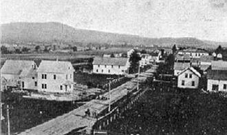 Milan, New Hampshire - Milan village in the 19th century