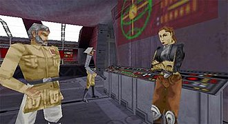 Star Wars Jedi Knight: Mysteries of the Sith - The cut-scenes in Mysteries of the Sith are rendered by the 3D engine, a change from the full motion video used in Dark Forces II.