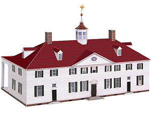Paper model - Paper model of Mount Vernon