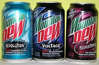 Mountain Dew -  Dewmocracy 1: People's Dew (2008) flavor finalists: Revolution, Voltage, and Supernova