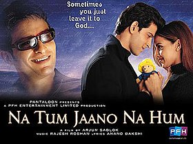 Hit movie Na Tum Jaano Na Hum by Anand Bakshi on songs download at Pagalworld